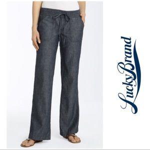 Lucky Brand Smocked Chambray Pants